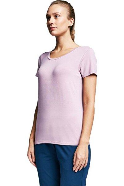 Lescon Kısa Kol Tshirt - Lila - M