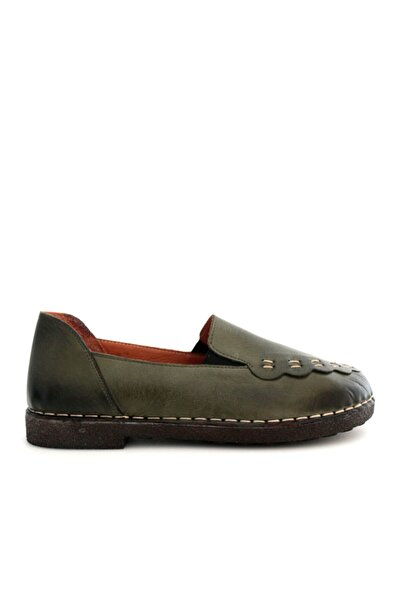 Beta Shoes Kadın Hakiki Deri Ayakkabı Yeşil