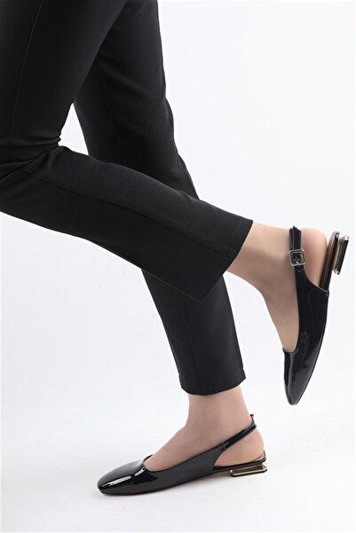 Buffalo Kadın Siyah Topuklu Babet