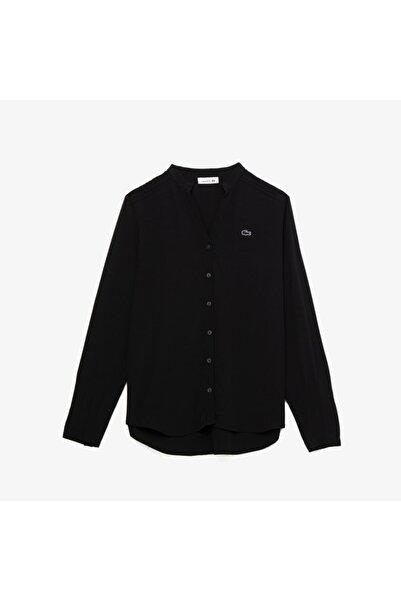 Lacoste Kadın Hakim Yaka Siyah Gömlek