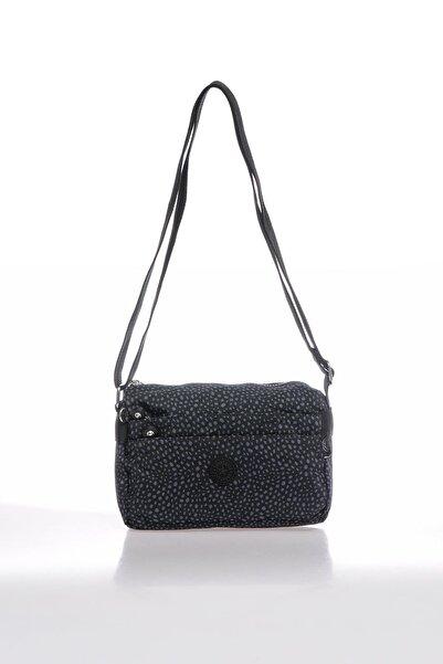 SMART BAGS Smbky1006-0091 Puanlı Siyah Kadın Çapraz Çanta