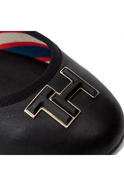 Tommy Hilfiger Essentıal Leather Ballerına