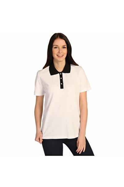 Solo Beyaz Polo Yaka Kadın Pamuk Pike T-shirt