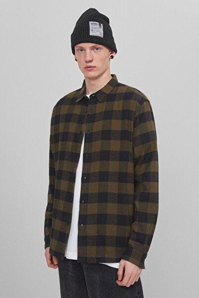 Bershka Uzun Kollu Kareli Gömlek