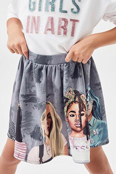 Tyess Kız Çocuk Desenli Etek 20fw0tj4303