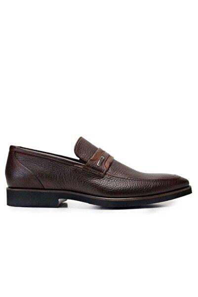 Nevzat Onay Hakiki Deri Kahverengi Günlük Loafer Erkek Ayakkabı -8336-