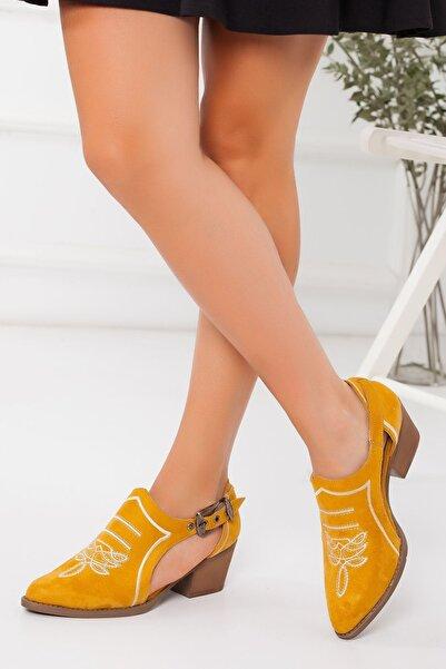 derithy -klasik Topuklu Ayakkabı-hardal Süet