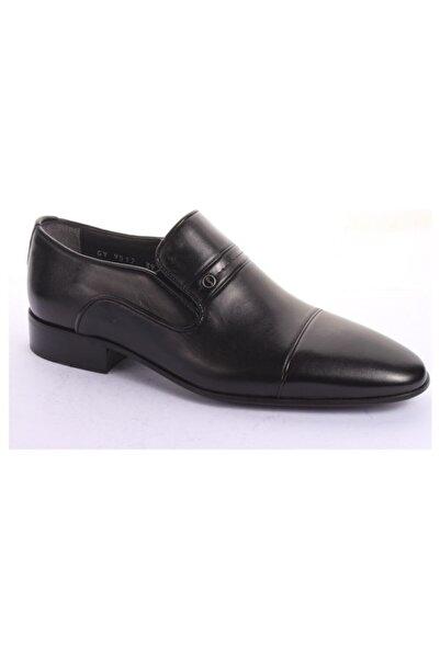 Fosco 9517 Siyah Hakiki Deri Klasik Ayakkabı