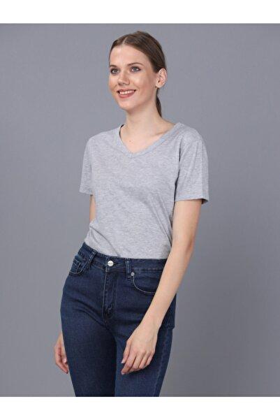 Basics&More Bayan V Yaka T-shirt