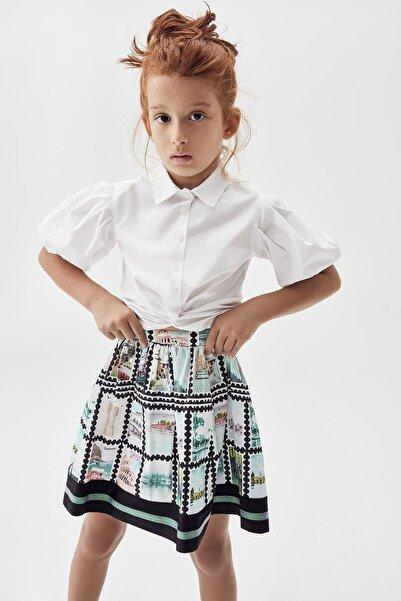 Tyess Kız Çocuk Beyaz Gömlek 20pfwtj4601