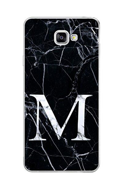 Dafhi Aksesuar Samsung Galaxy J7 Prime Uyumlu 2 Mermer Desen M Harfi Telefon Kılıfı