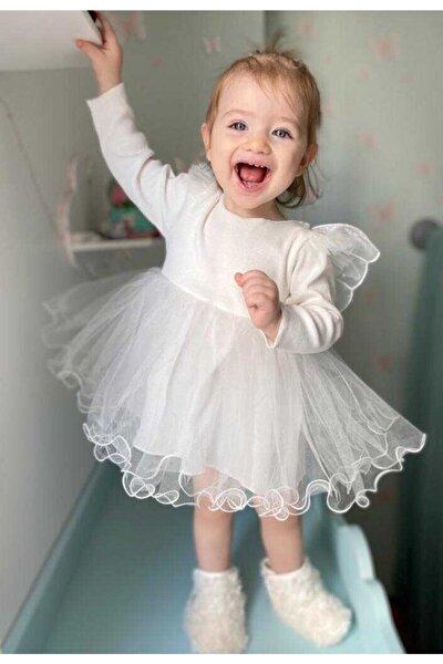 Little Honey Bunnies Beyaz Kanatlı Elbise