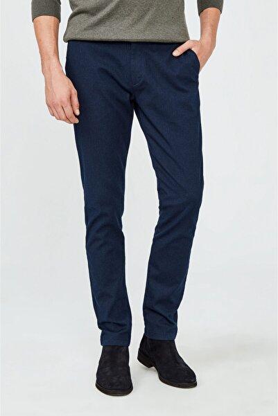 Avva Erkek Lacivert Yandan Cepli Armürlü Slim Fit Pantolon A02y3017