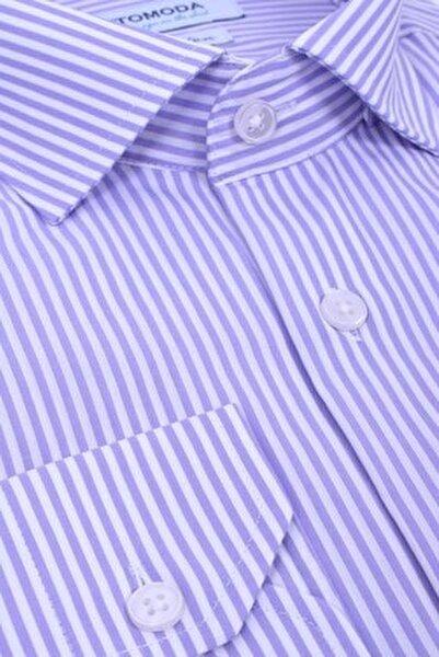 Uzun Kollu Çizgili Gömlek %100 Pamuk