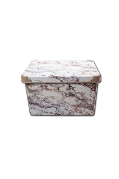 QUTU Style Box Marble Dekoratif Kutu - 20 Litre