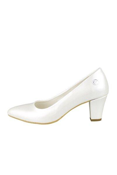 Mammamia Kadın Beyaz Topuklu Ayakkabı