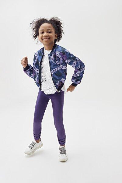 Tyess Kız Çocuk Desenli Bomber Ceket 20pfwtj4703