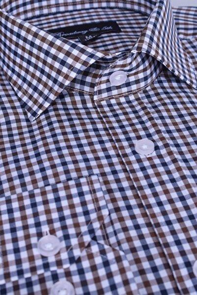 Ottomoda Broadway Uzun Kollu Kareli Erkek Gömlek