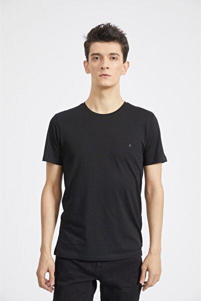 Avva Erkek Siyah Ultrasoft Bisiklet Yaka Düz Modal T-shirt A02b1171