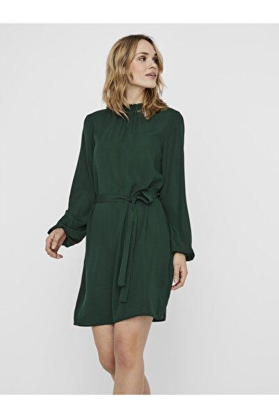 Vero Moda Dik Yaka Beli Kuşaklı Elbise 10237771 Vmboa