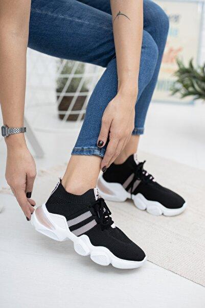 Deripabuc Siyah Kadın Tekstil Sneaker Dp47-0021