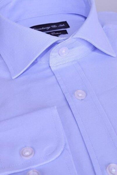 Broadway Premium Kalite Uzun Kollu Klasik Erkek Gömlek Sky