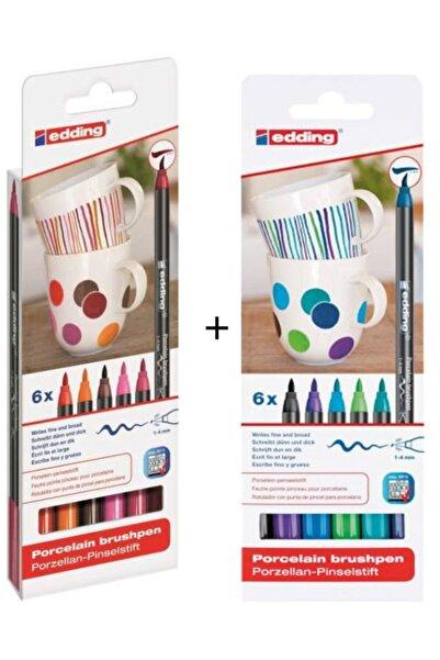 Edding Sıcak + Soğuk Renkler Porselen Boyama Kalem Seti
