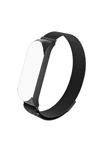 zore Xiaomi Mi Band 5 Kordon Hasır Örgü Metal Model Krd-01