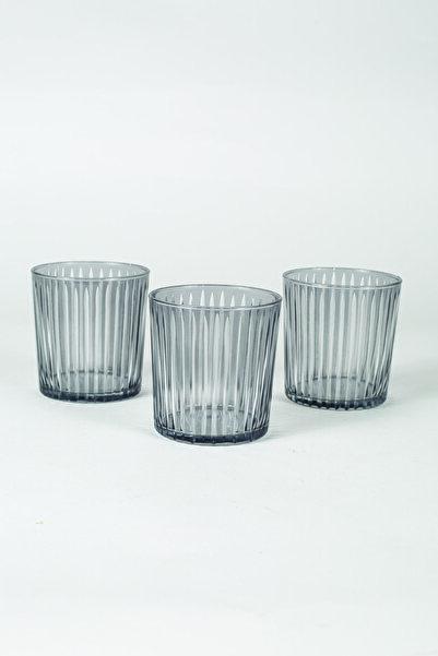 Rakle Sicilya 3'lü Su Bardağı Seti Füme 380 Cc