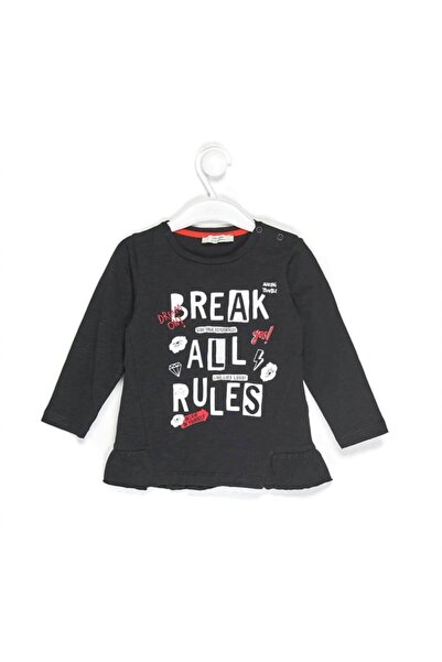 """Çikoby 1555 Kız Bebek """"break All Rules"""" Baskılı Sweatshirt"""