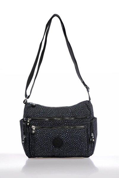 SMART BAGS Smbky1115-0091 Puanlı Siyah Kadın Çapraz Çanta