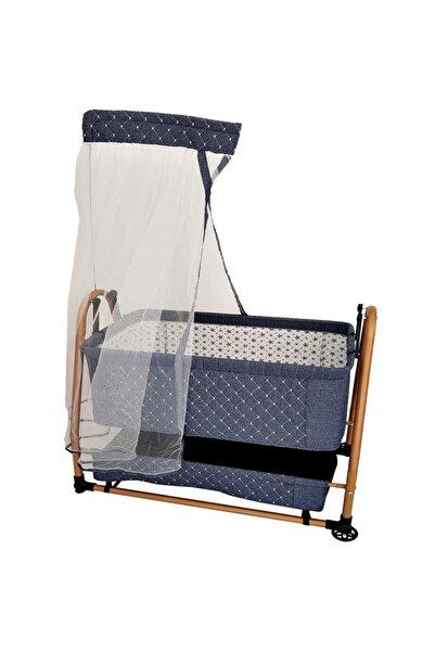 bebegen Bebeg Sepet Beşik Lüks Keten Kumaş 55x95 Anne Yanı Yatak Bebek