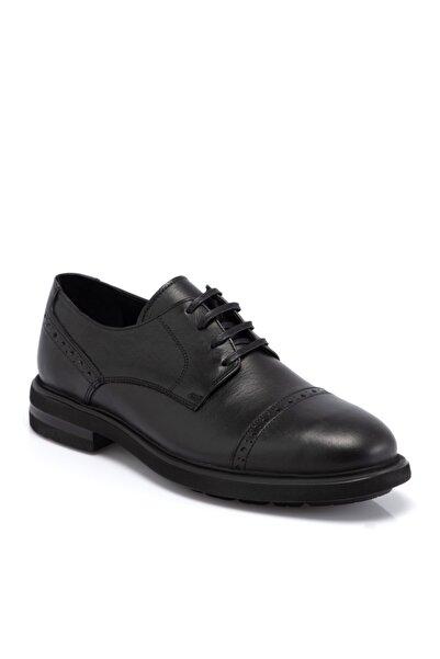 Tergan Erkek Siyah Deri Ayakkabı 55065ı4u