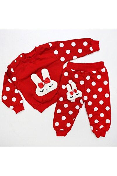 Bella Baby 2'li Puantiyeli Lüx Bebek Takım Kırmızı