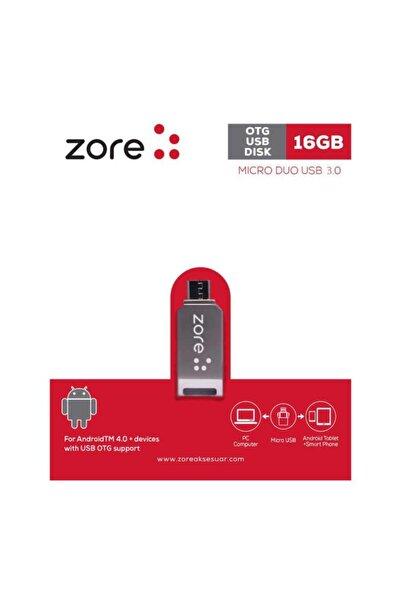 zore Micro Metal Otg 16 Gb Usb 3.0 Flash Bellek Mini Boy Hızlı Güvenilir