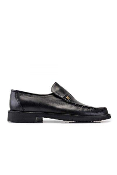 Nevzat Onay Hakiki Deri Siyah Günlük Loafer Erkek Ayakkabı -10532-
