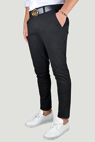 Terapi Men Erkek Siyah Keten Pantolon 9Y-2200198-002