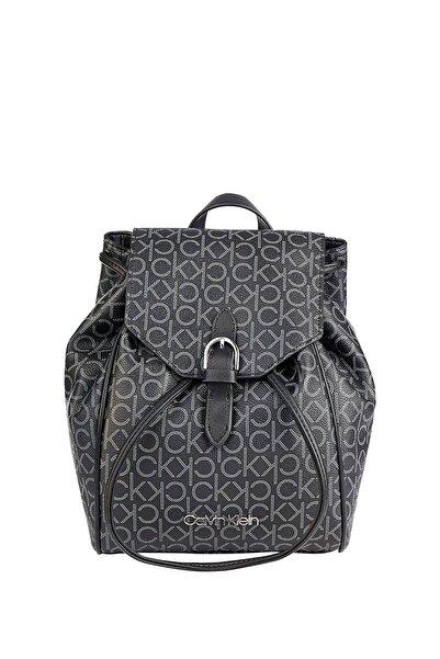 Calvin Klein Kadın Siyah Sırt Çantası Drawstring Bp W flap K60k607130
