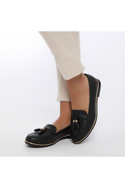 Butigo Ds18019-19ıy Siyah Kadın Loafer Ayakkabı