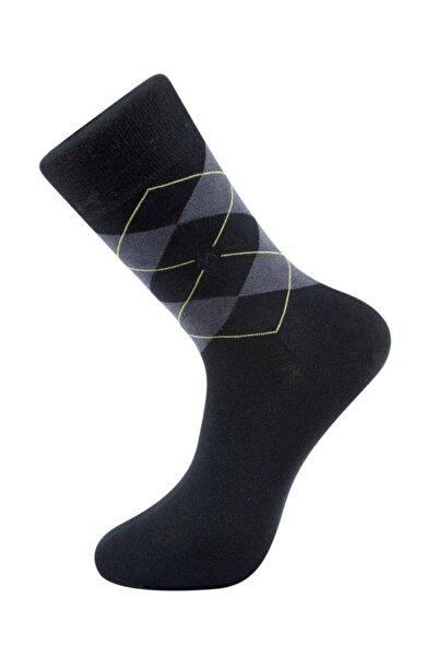 Hemington Baklava Desen Pamuklu Yazlık Siyah Çorap