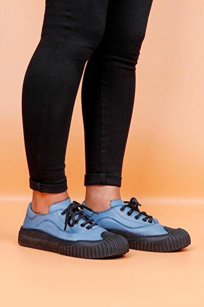 BUENO Shoes Hakiki Deri Bağcık Detaylı Kadın Spor Ayakkabı 20wr6803
