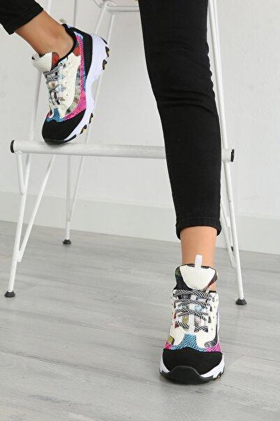 julude Bağcıklı Kadın Spor Ayakkabı