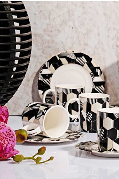 Kitchen World Bhr-15 Porselen 6'lı Kahve Fincan Takımı 2018st0000072894