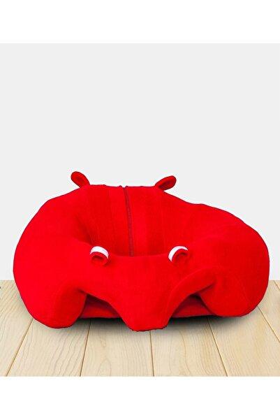 Morkese Kırmızı Bebek Oturma Destek Denge Minderi Bebek Koltuğu