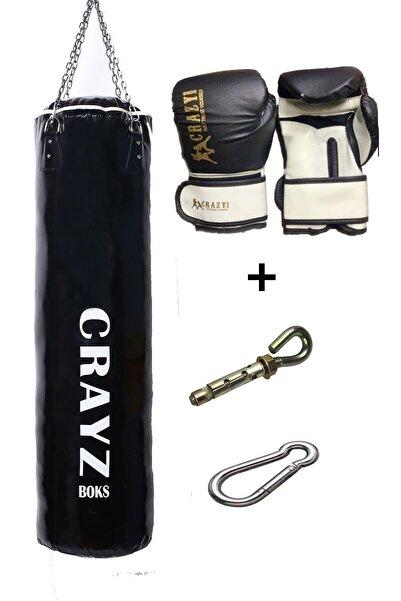 Crazy 120x35 Boks Kum Torbası Set Büyük Boy Dolu Boks Eldiveni Askı Aparatı
