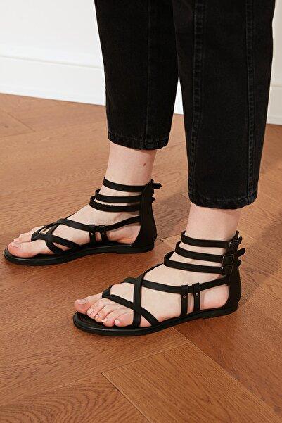TRENDYOLMİLLA Siyah Kadın Sandalet TAKSS21SD0008