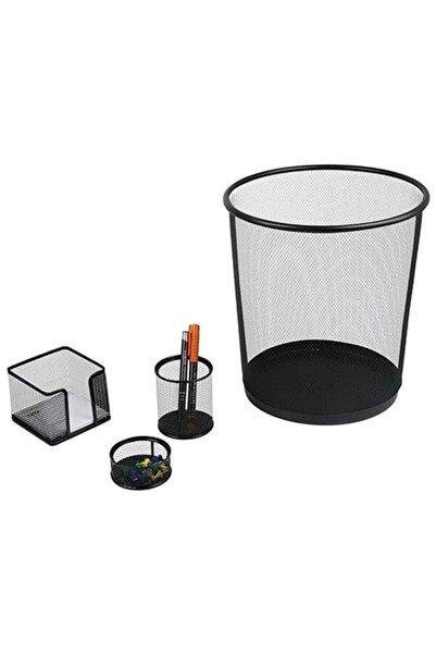 Globox Metal Ofis Seti 4 Lü Çöp K Kal Not Ataşlık Fx