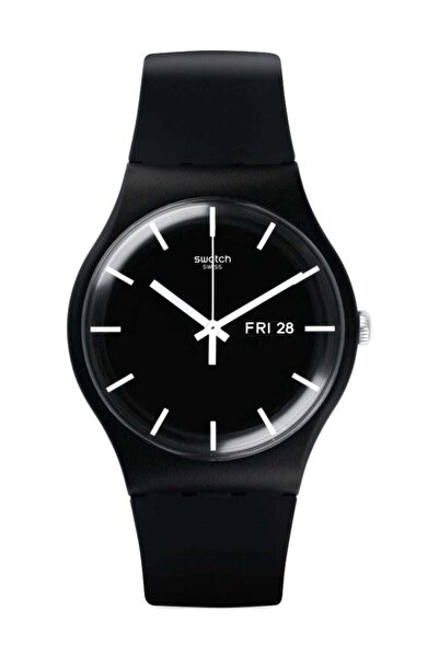 Swatch Unisex Siyah Kol Saati SUOB720