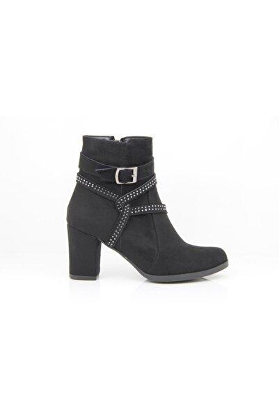 Sedef Kadın Siyah Fashion Topuklu Bot 77
