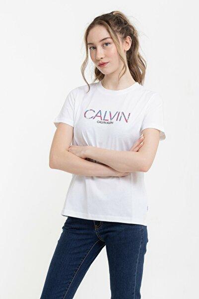 Calvin Klein Kadın Beyaz T-Shirt
